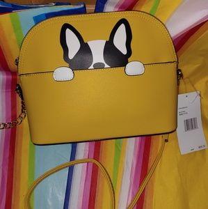 Betsey Johnson crossbody purse yellow dog